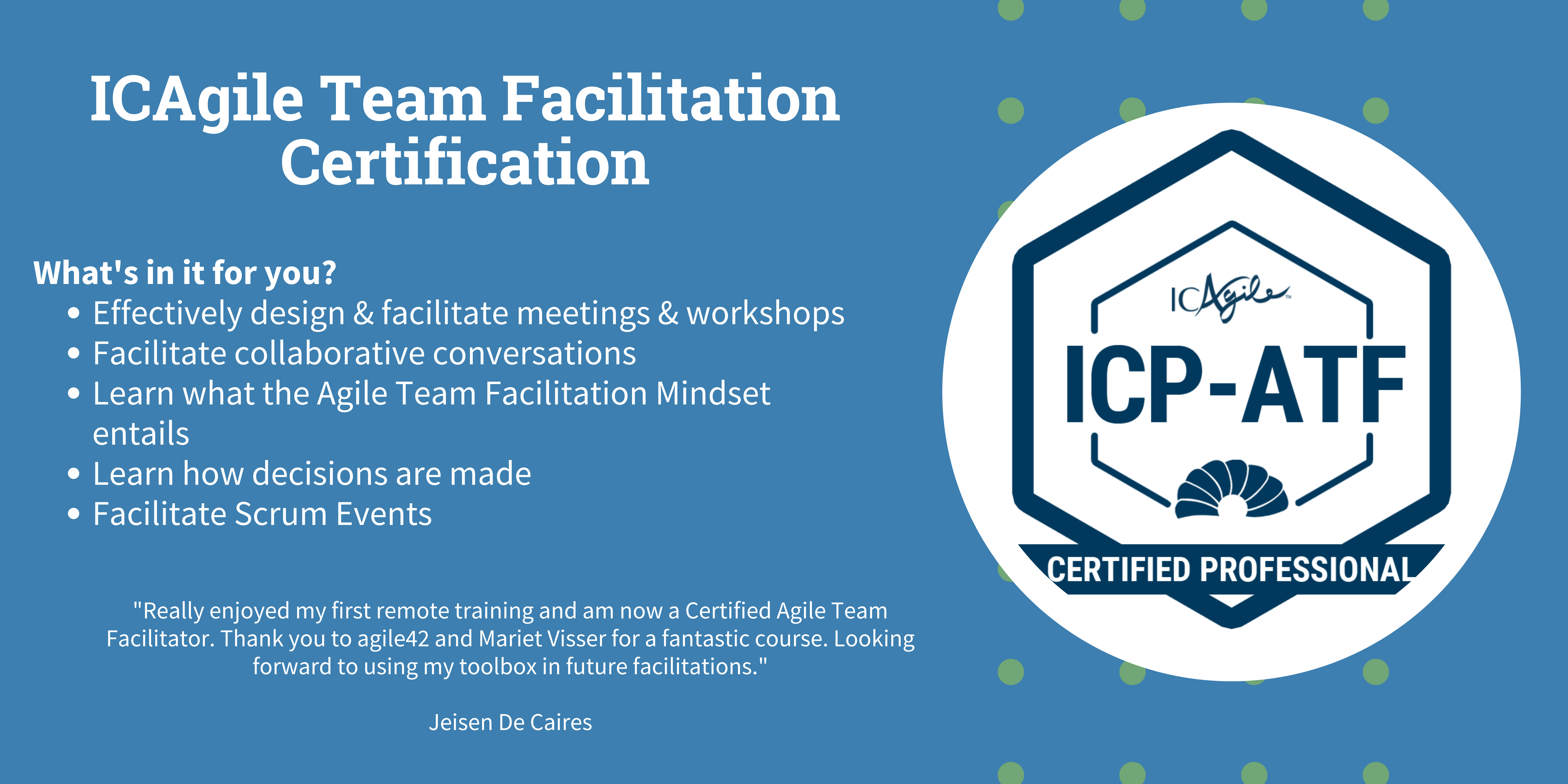 ICAgile Team Facilitation Certification
