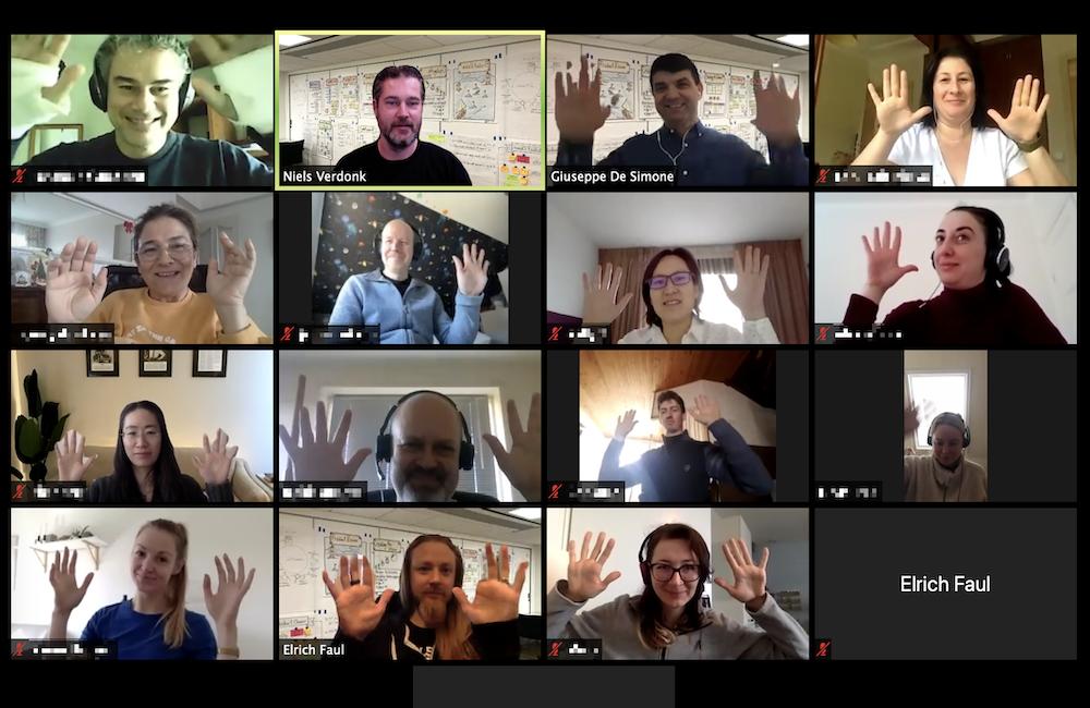 Virtual course participants