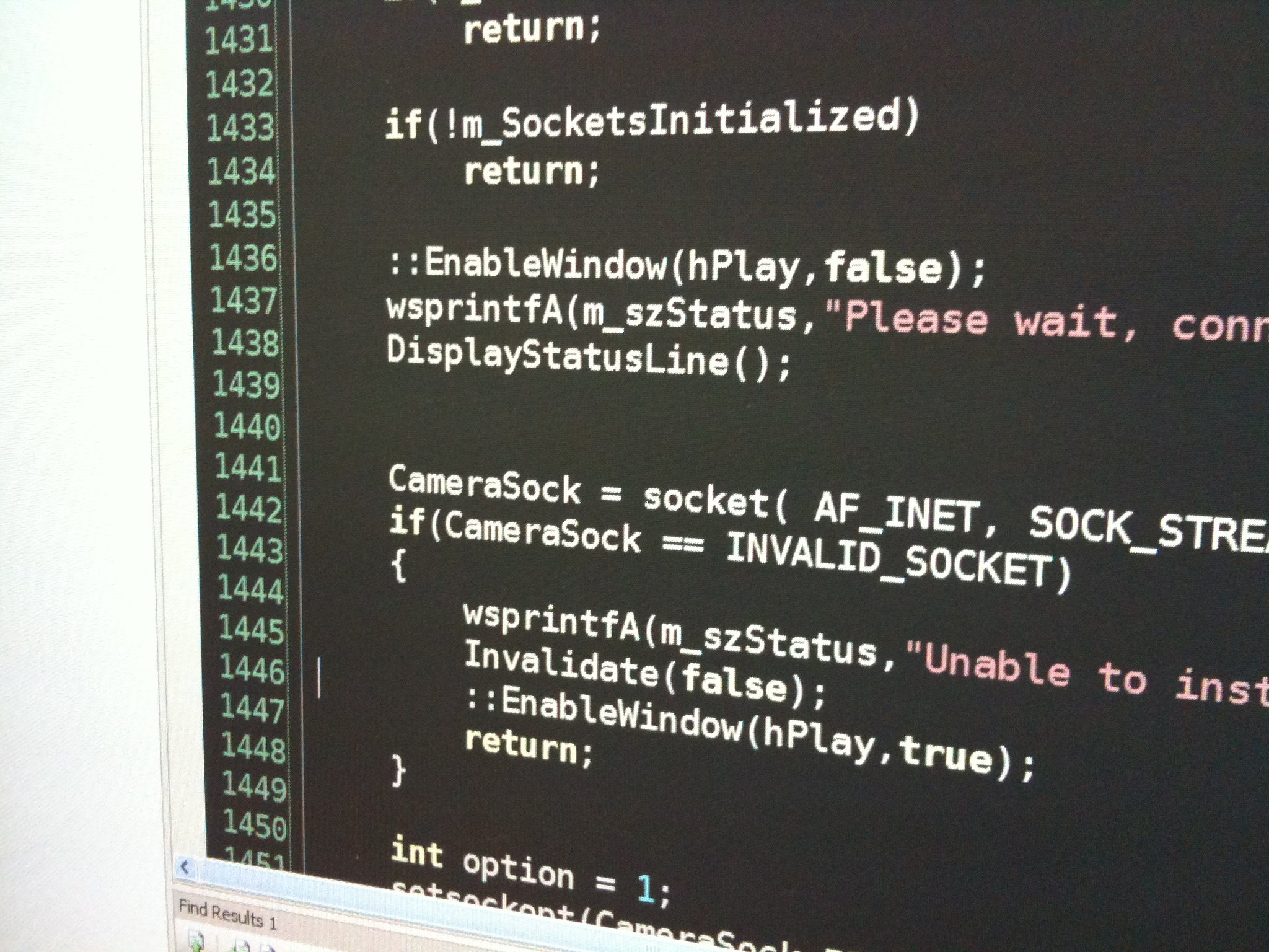 """C++ code screenshot (""""Day 297: Tough Read"""" by Tom Small on Flickr)"""