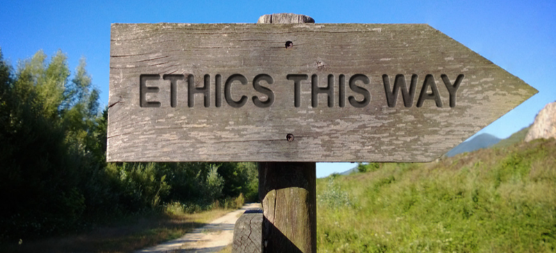 Sign: Ethics this way