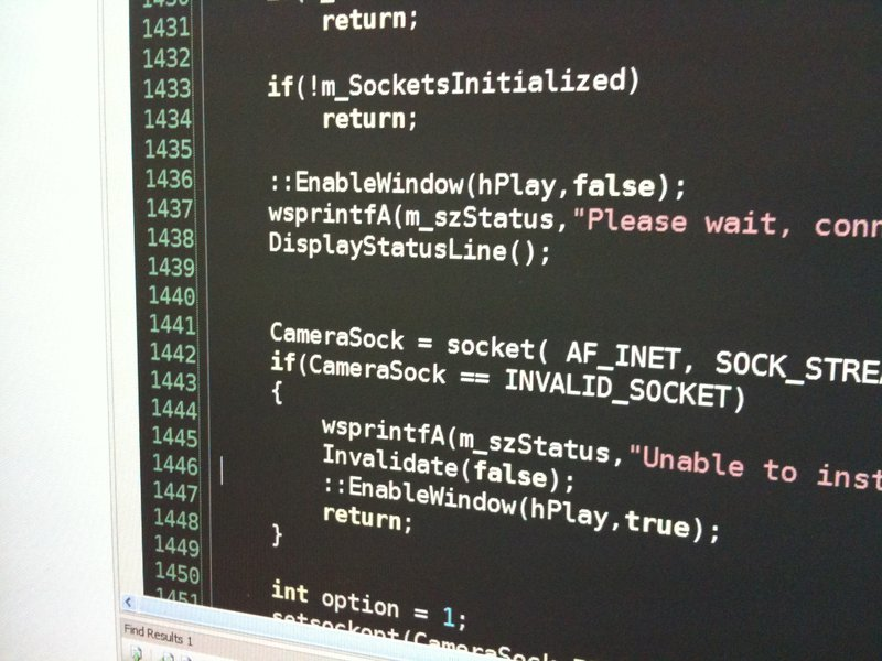 C++ code screenshot (