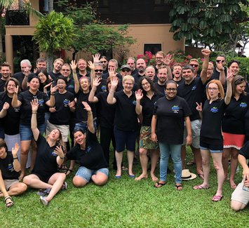 The agile42 team during the Innovation Sprint 2018 in Thailand