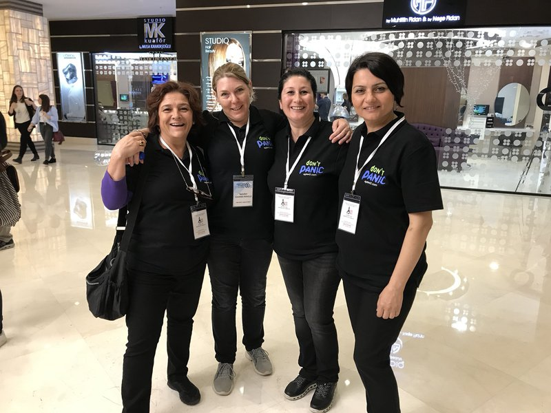 Joanne Perold and agile42 Turkey team at Agile Days Istanbul 2018