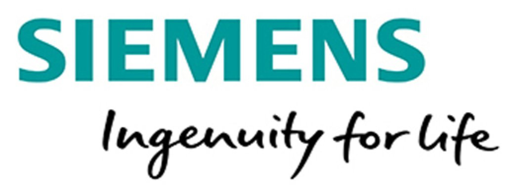 Siemens logo with claim