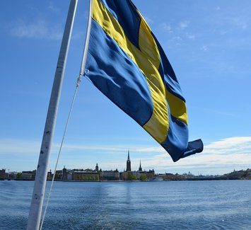 Stockholm and Swedish flag