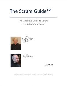 The Scrum Guide door Jeff Sutherland en Ken Schwaber.
