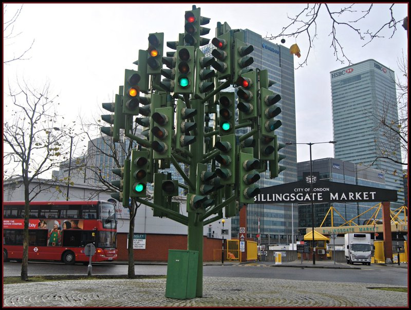 Traffic Light Tree @ Billingsgate London