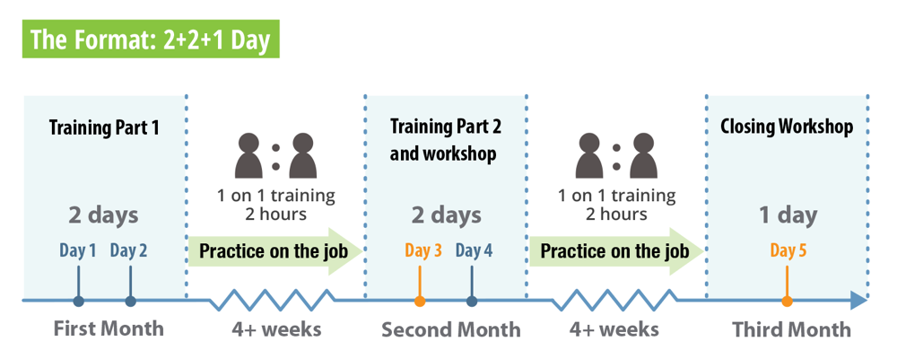 Advanced Agile Team Coaching Course structure