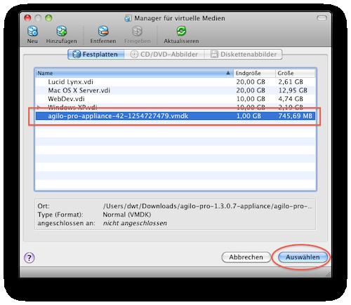 Select Freshly Added Disk Image