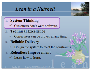Lean in a Nutshell