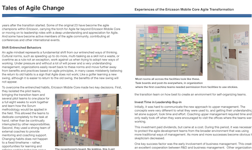 Tales of Agile Change