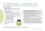 The Product Owner - A value-driven role12