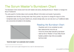 The Scrum Master's Burndown Chart