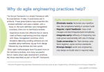 Why do agile engineering practices help?