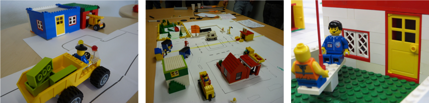 Scrum Lego City Game in action