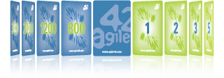 agile42 offers many useful Scrum Tools like the Scrum Planning Poker, the Business Value Game to prioritize requierements and Agilo for Scrum the successful Scrum Tool