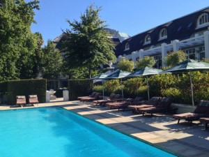pool at Le Franschhoek Hotel and Spa