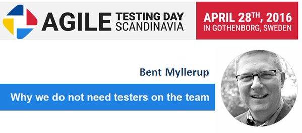 Bent Myllerup @ Agile Testing Day Scandinavia