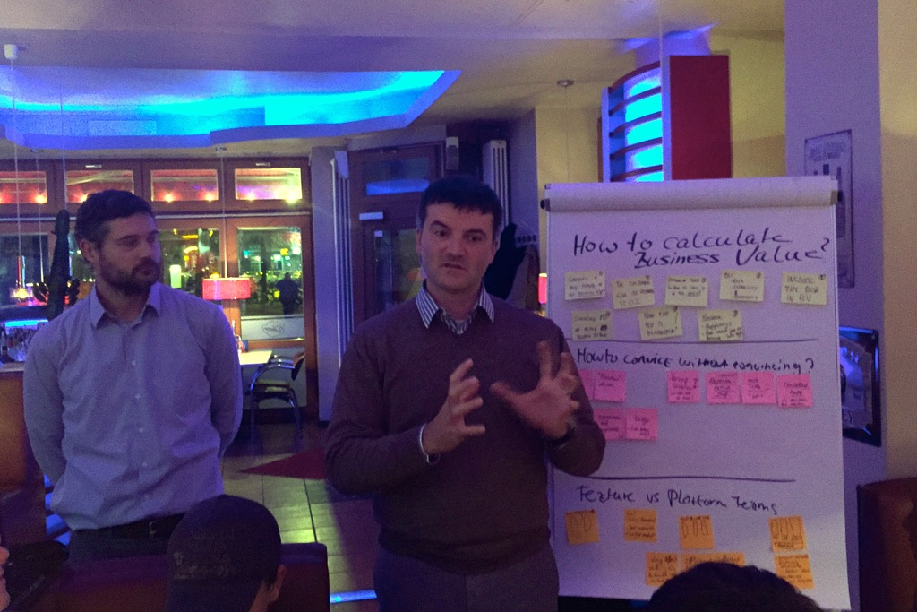 Niels Verdonk and Andrea Tomasini at Scrumtisch Berlin February 2015