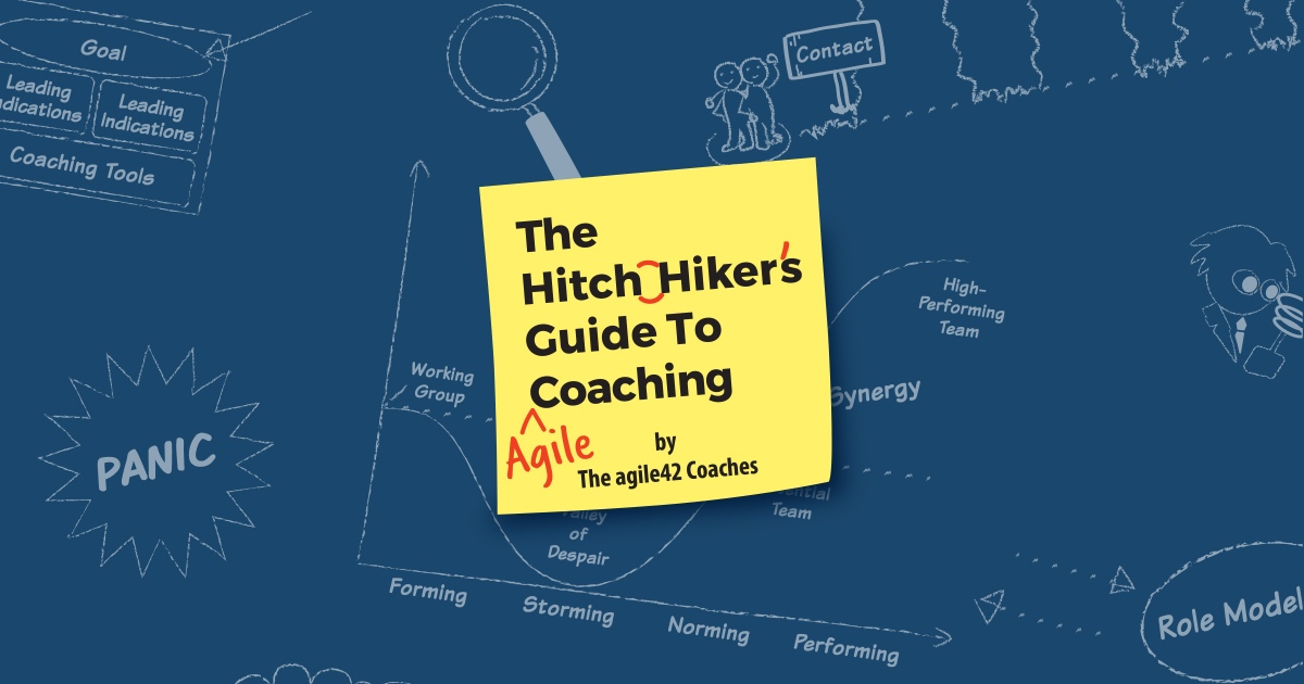 "Cover of ""The Hitchhiker's Guide to Agile Coaching"""