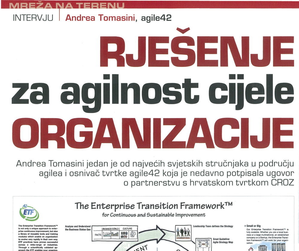 Snippet from Mreža magazine